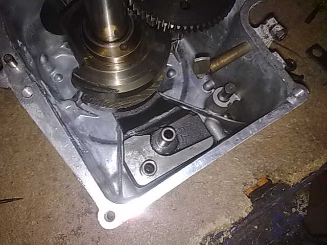 Fixing a hole in a Brigg & Stratton Engine Crankcase